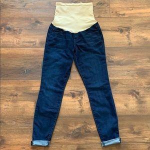 Joe's Maternity Mid Rise Skinny Crop Jeans